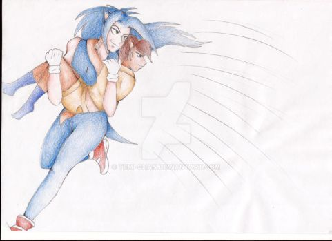 Sonic and Sally by temi-chan