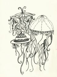 Jellyfish (2) by paperglyphs