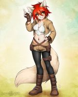 2014 commission for Arti-collie by A-BlueDeer