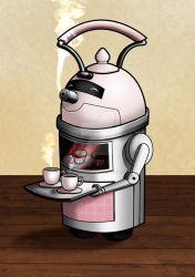 March of Robots #15: The friendly Teabot by Narnise