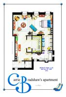 Carrie Bradshaw Apartment (TV Version) POSTER by nikneuk