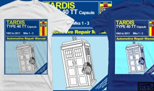 Shirt: TARDIS Haynes Manual by GAME-OVER-CUSTOM