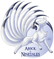 Ninetales x Absol [Closed] by Seoxys6