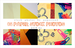 Stock Pack 03: Paper Scraps by PaperJunk