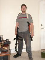 Dale with guns stock 15 by Tensen01