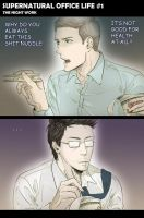 SPN Office Life by illli