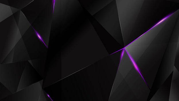 Wallpapers - Purple Abstract Polygons (Black BG) by kaminohunter