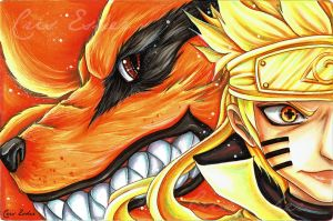 Kurama and Rikudou - Fanart Naruto Shippuden by CrisEsHer