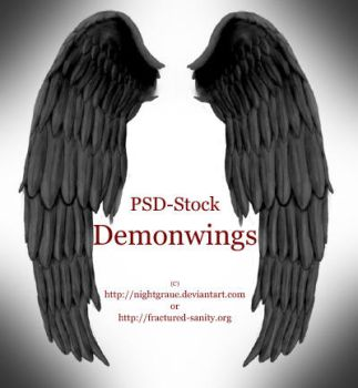 Demon Wings - PSD STOCK by nightgraue