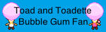 Toad and Toadette Bubble Gum Fan Stamp by PokeGirlRULES