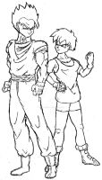 Gohan and Videl by Axel-Knight