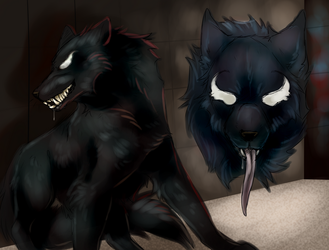 Venom wolf by EuphratesLeap