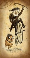 adventure time in the past. by superxtoon