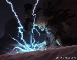Dimension - Goblin Lightning Caller by Changinghand
