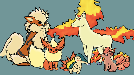 I drew my 5 favorite Pokemon by KJ-Scribbles