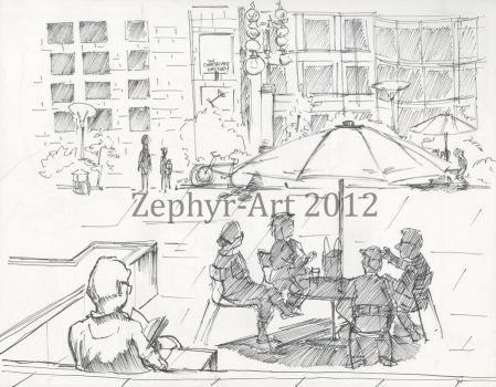 Union Square 4 San Francisco by Zephyr-Art
