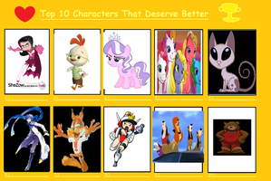 Graphite's 10 Characters That Deserve Better by GraphiteTailGrace