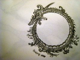 Dragos Ouroboros by boegeob