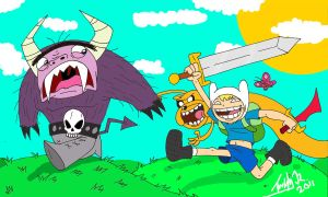 Imaginary Adventure Time. by koude123