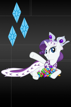 Rarity Wallpaper for iPod touch and iPhone 2 by RainbowTrixie