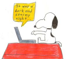 Snoopy on his laptop by dth1971