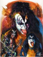 Gene Simmons collage by choffman36