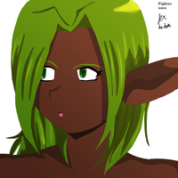 lineless elf by fighterxaos
