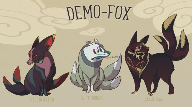 Auction! Demo-foxes (3open) Adoptadle#167 by Energony