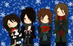 D'espairsRay Chibi Xmas by Momo-Gazerock