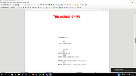 The Olsen Gang Second Draft by n64ization