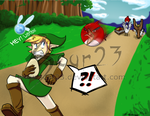 Link vs The Angry Birds by ArtByMelissaM
