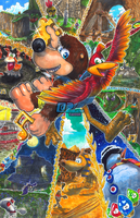Banjo-Kazooie: Bear and Bird by Pixelated-Takkun