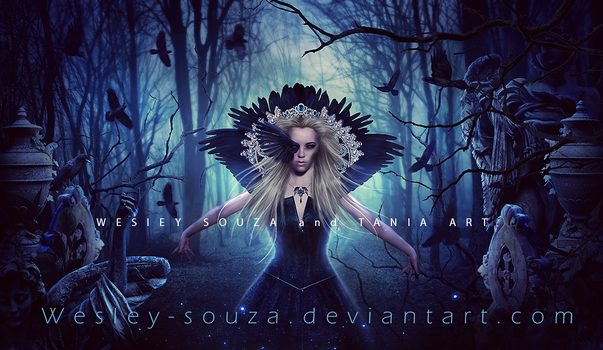 The Goddess of Ravens by Wesley-Souza