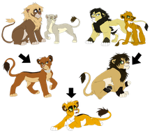 Lion Family Tree by Firewolf-Anime