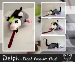 Delph - Dead possum plush by FurryFursuitMaker