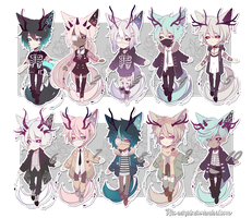 CLOSED Adoptable Set price | Autumn/Winter| by Rhe-Adopts