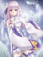 [Re:Zero] Emilia + Speedpaint by KheilaHirai