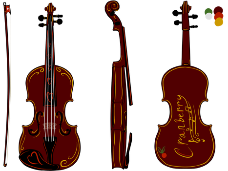 Cranberry Violin by moonlightartistry