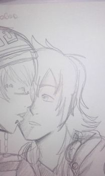 scetch Pair01: Aoba x Noiz by manga-and-bookNERD