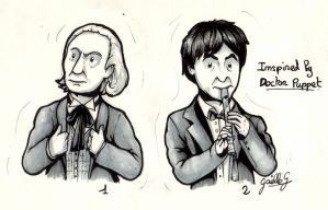 Inotober day 14 - Doctors in black and white by GaelleDragons