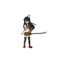 Shana-Shakugan no Shana- Pixel Art Animation by renchii13
