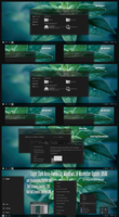 Laper Dark Aero Theme Win10 Fall Creators by Cleodesktop