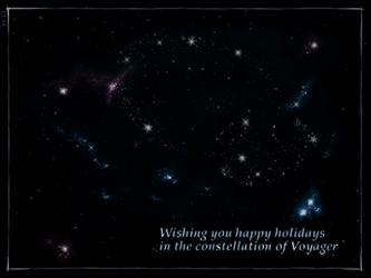 The Constellation of Voyager (postcard) by ewigestudentin