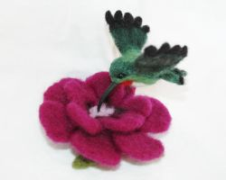 Needle felted hummingbird by amber-rose-creations