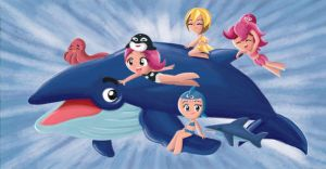 Sea Princesses and a Whale by fabioyabu