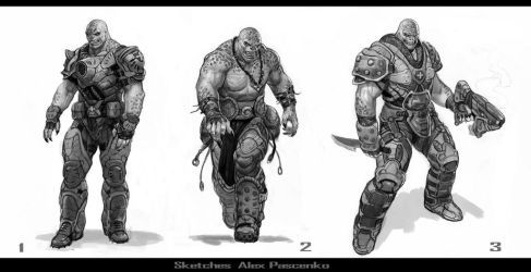 GoW Sketches Locust by AlexPascenko