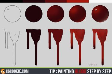 Tip: Painting Blood Step by Step by CGCookie