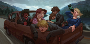Zed North: Rocky Road Trip by MisterCrowbar