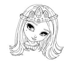 Lollipop girl lineart by yampuff on deviantart for Tiara club coloring pages