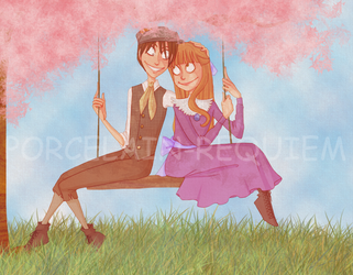 Swinging Time - Dickon + Mary by Porcelain-Requiem